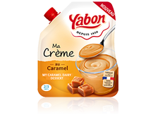 Image - Caramel dairy dessert in a flexible format