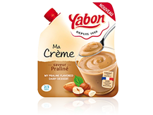 Image - Praline flavored dairy dessert in a flexible format