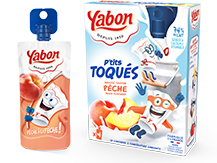 Image - P'tits Toqués Peach flavored dairy products